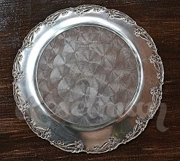 Тарелка подарочная, серебрение