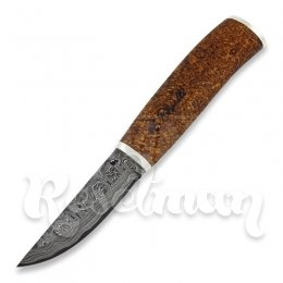Roselli Carpenter knife, damasc