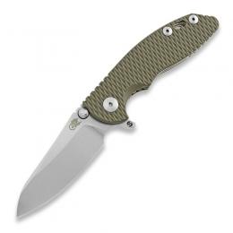 Складной нож Hinderer XM-18 3.0 Skinny Sheepfoot, stonewash, оливковый