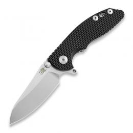 Складной нож Hinderer XM-18 3.0 Skinny Sheepfoot, stonewash, чёрный