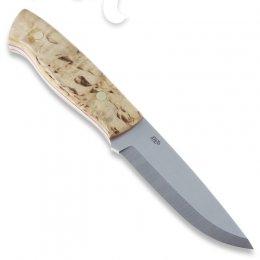 Охотничий нож EnZo Trapper 95, O-1 Scandi, карельская берёза, огниво