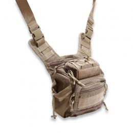 Tactical shouder/leg multi pocket, coyote tan