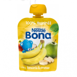 Bona банан и яблоко, с 6 мес. 90г / Banaania ja Omenaa