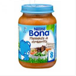Bona бефстроганов с овощами, с 8 мес. 200г / Vihanneksia ja stroganoffia