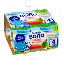 Bona груша и манго, с 4 мес. 4шт. 125г / Päärynää ja mangoa