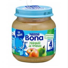 Bona груша и яблоко, с 4 мес. 125г / Päärynää ja omenaa