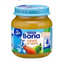 Bona груша с манго, с 4 мес. 125г / Päärynää ja mangoa