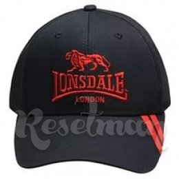 Lonsdale 2 Stripe Cap 63 Navy/red