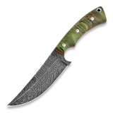 Нож Olamic Cutlery Nero, green Karelian birch