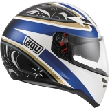 AGV Skyline Wings white/black/blue