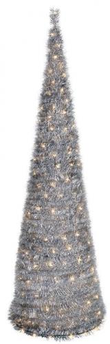 Декоративная, сверкающая рождественская елка со встроенной светодиодной лентой
