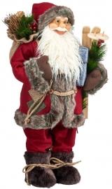 Санта Клаус с лыжами 60 см.