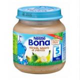 Bona груша, банан, йогурт, с 5 мес. 125г / Päärynää, banaania ja jogurttia