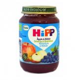 Hipp яблоко и черника, с 8мес. 190г / Omenaa & Mustikkaa
