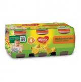 Muksu банан, апельсин, виноград, груша и яблоко, с 4 мес. 6шт. 125г / hedelmäseiska