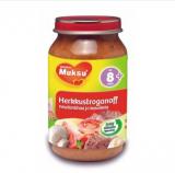 Muksu говядина с грибами и томатами, с 8 мес. 200г / herkkustroganoff, naudanlihaa ja kasviksia