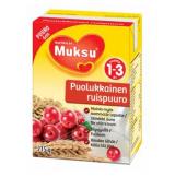 Muksu готовая ржаная каша с брусникой, 1-3 года 215г / puolukkainen ruispuuro