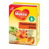 Muksu готовая фруктово-овсяная каша, 6 мес. 215г / hedelmäinen puuro