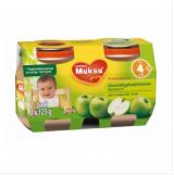 Muksu зеленое яблоко, с 4 мес. 2шт. 125г / omenatäyshedelmäsose