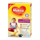 Muksu злаковая молочная каша с фруктами, 8 мес. 200г / herukkainen hedelmäpuurojauhe PLUS