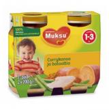 Muksu карри цыпленок и сладкий картофель, 1-3 года 2шт. 200г / currykanaa ja bataattia