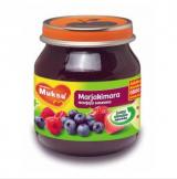 Muksu малина, клубника и черника, с 6 мес. 125г / marjakimara