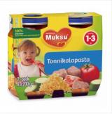 Muksu овощи с макаронами и тунцом, 1-3 года 2шт. 200г / tonnikalapasta