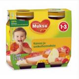 Muksu овощи с цыпленком, 1-3 года 2шт. 200г / kanaa ja wokvihanneksia