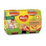 Muksu персик, с 4 мес. 2шт. 125г / persikkasose