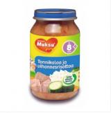 Muksu тунец с овощами, с 8 мес. 200г / tonnikalaa ja vihannesrisottoa