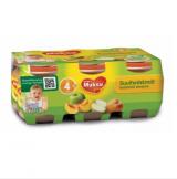 Muksu яблоко с персиком, с 4 мес. 6шт. 125г / suvihedelmät