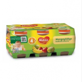 Muksu яблоко, манго и банан, с 4 мес. 6шт. 125г / mangoyllätys