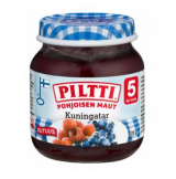 Piltti Pohjoisen maut малина и черника, с 5 мес. 125г / Kuningatar