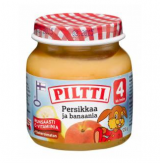 Piltti персик и банан, с 4 мес. 125г / Persikkaa ja banaania