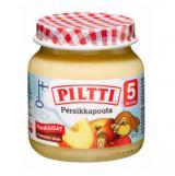 Piltti персики, яблоки и творог, с 5 мес. 125г / Persikkapouta