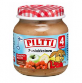 Piltti яблоко, банан и брусника, с 4 мес. 125г / Puolukkainen
