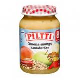 Piltti яблоко, манго и овсяные хлопья, с 8 мес. 200г / Omena-Mango-Kauraherkku