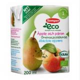 Semper Eco яблоко и груша, с 12мес. 3 шт. 200мл / Omenaa ja päärynää luomu