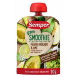 Semper Green Smoothie груша, авакадо и лайм, с 6мес. 90г / päärynä, avokado, lime