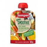 Semper Green Smoothie яблоко, морковь, апельсин и имбирь, с 6мес. 90г / omena, porkkana, appelsiini, inkivääri