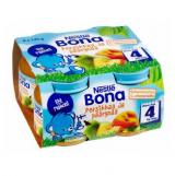 Bona персик и груша, с 4 мес. 4шт. 125г / Persikkaa ja päärynää