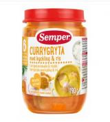 Semper рагу карри с курицей и рисом, с 6 мес. 190г / Currypataa kanalla & riisillä
