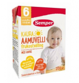 Semper с овсяной мукой (утренний), 6 мес. 200мл / Aamuvelli kaura