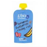 Ella's Kitchen банан, голубика и рис, с 4мес. 120г / Banaani, mustikka, riisi
