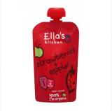 Ella's Kitchen клубника и яблоки, с 4мес. 120г / Strawberry apples