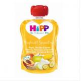 Hipp Jogurtti Smoothie яблоко, персик, банан и мюсли, с 8мес. 90г / omena, persikka, banaani, mysli