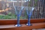 Вазы голубого стекла, с кракелюром, 2 шт