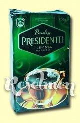 Молотый кофе Paulig Prezident Tumma для кофеварок