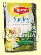 Lipton Sun Tea. Зеленый холодный чай с мятой в пирамидках