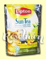 Lipton Sun Tea. Черный холодный чай с лимоном и лаймом в пирамидках
